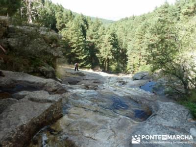 El Pico del Nevero y la Cascada del Chorro - rutas a pie por la sierra de madrid; casillas pueblo